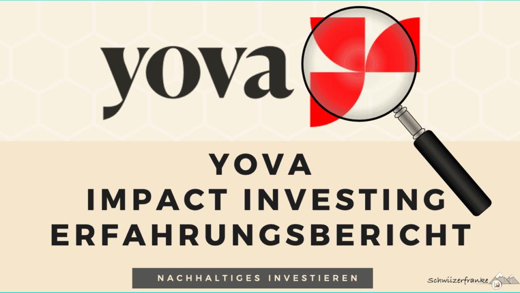 yova erfahrungsbericht kritik, gebühren und rendite Impact Investing