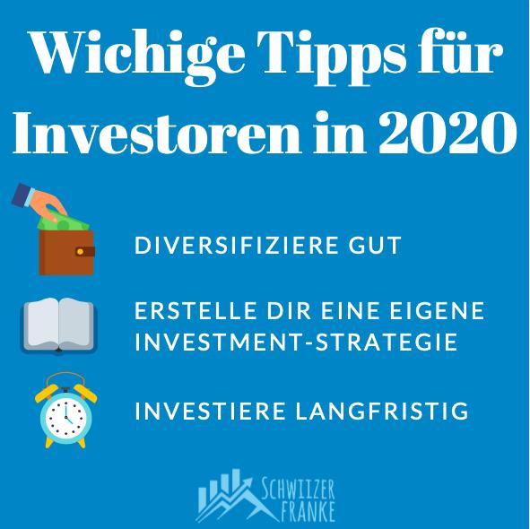 Wichtige Tipps Investoren Schweiz